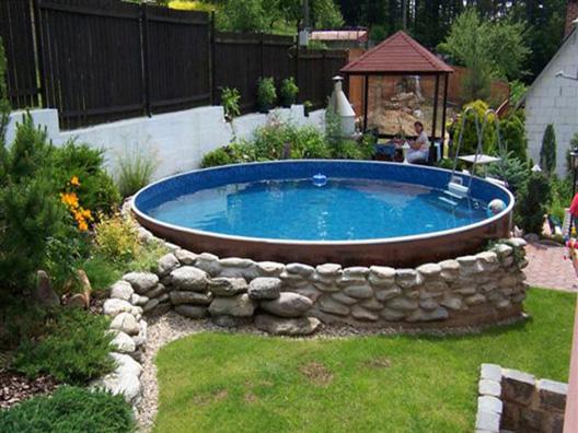 Piscina fuori terra rotonda azuro 300a azzurra in acciaio - Rivestire piscina fuori terra fai da te ...