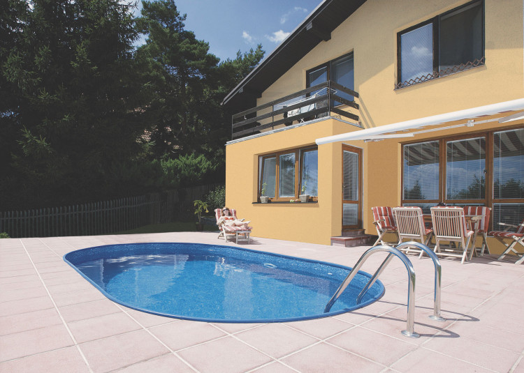Piscina interrata toscana pro ovale 6 00 x 3 20 h1 50 m for Liner piscine 3 50 x1 20