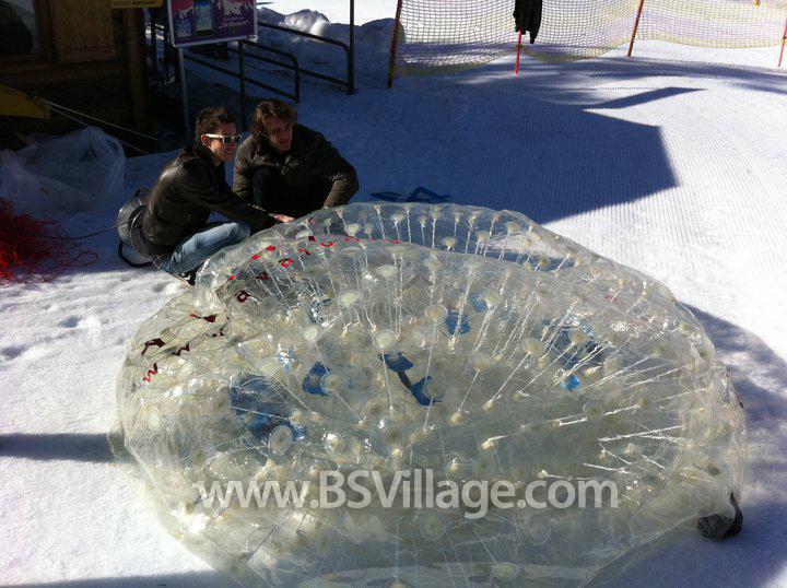 palla zorb neve gonfiabile in tpu SNOWY
