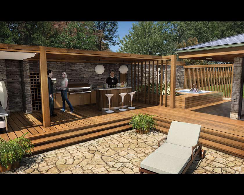 Pavimentazione decking per esterni in legno lapacho - Pavimentazione giardino in legno ...