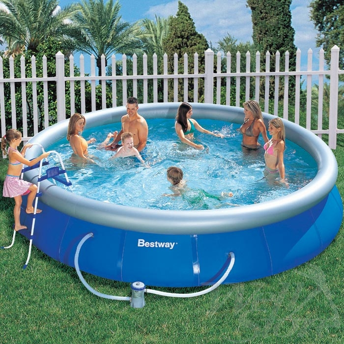 Piscina fuori terra bestway fast set rotonda 3 96 x h 1 - Manutenzione piscina fuori terra bestway ...