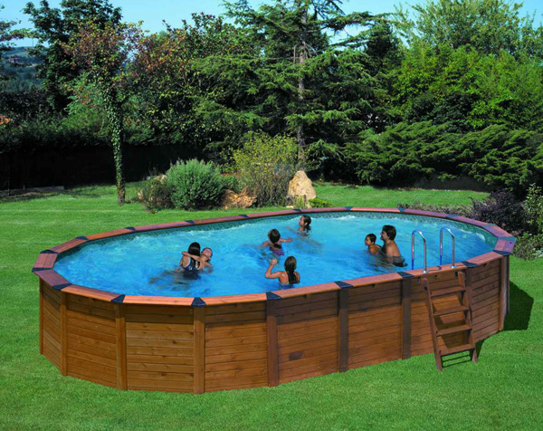 Piscina fuori terra gre nature pool serie hawaii 640 - Scala per piscina fuori terra ...