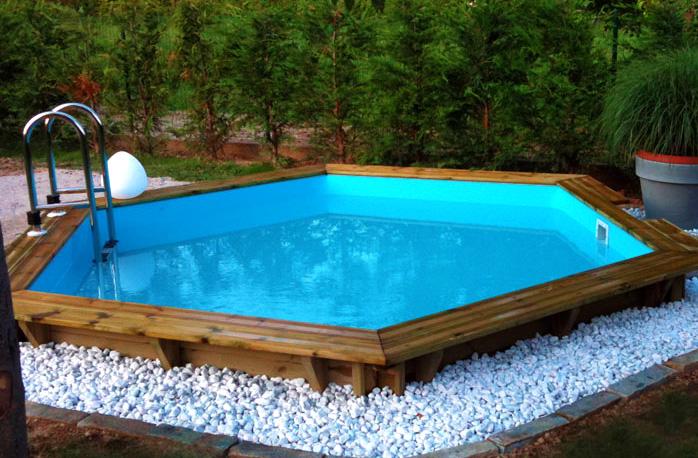 Piscina fuori terra in legno ecowood easy plus 435 for Piscina seminterrata