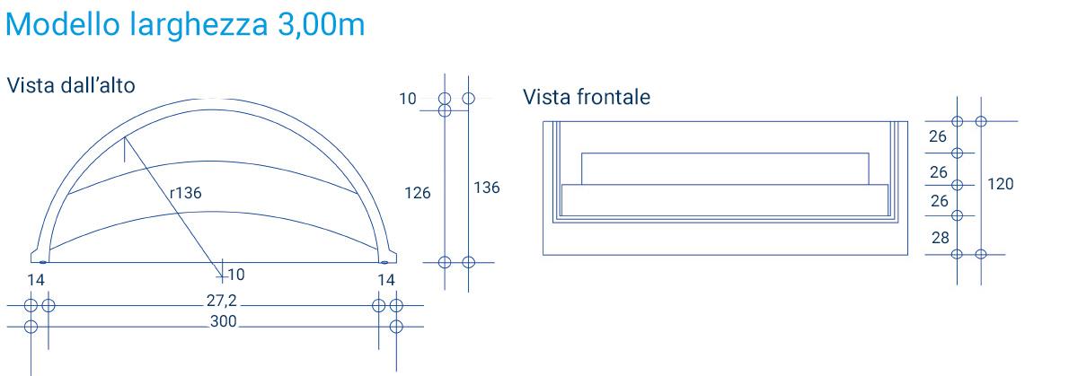 Excellent scala romana classica per piscina with larghezza - Larghezza scala interna ...