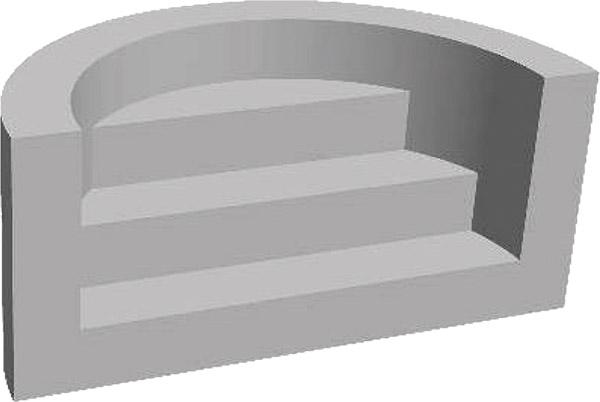 Scala Romana per piscina, h 1,20 m con 3 scalini per posa sotto liner