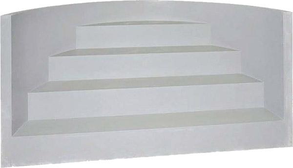 Scala Romana per piscina, h 1,50 m con 4 scalini per posa sotto liner