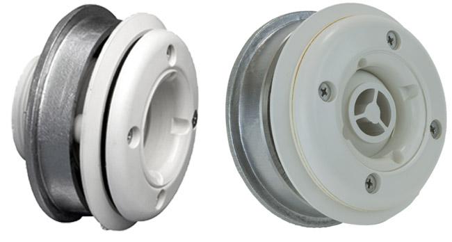 bocchetta in ABS a parete con o senza getto orientabile