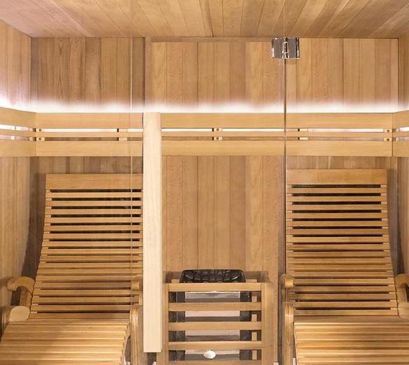 Poltrona in legno Alto Comfort per saune a infrarossi e a vapore