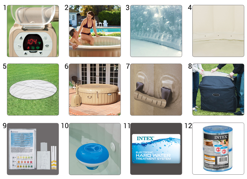 componenti piscina spa gonfiabile