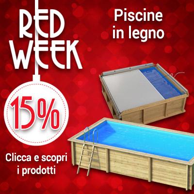 Red Week piscine in legno