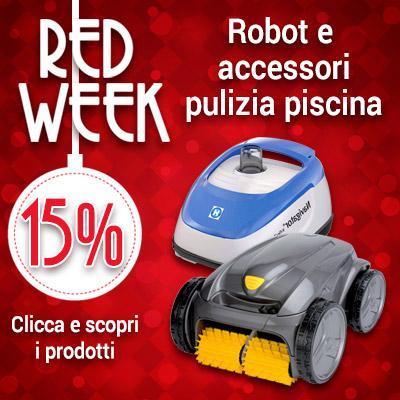 Red Week robot e accessori pulizia piscina