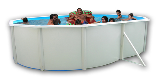 piscina ovale fuori terra