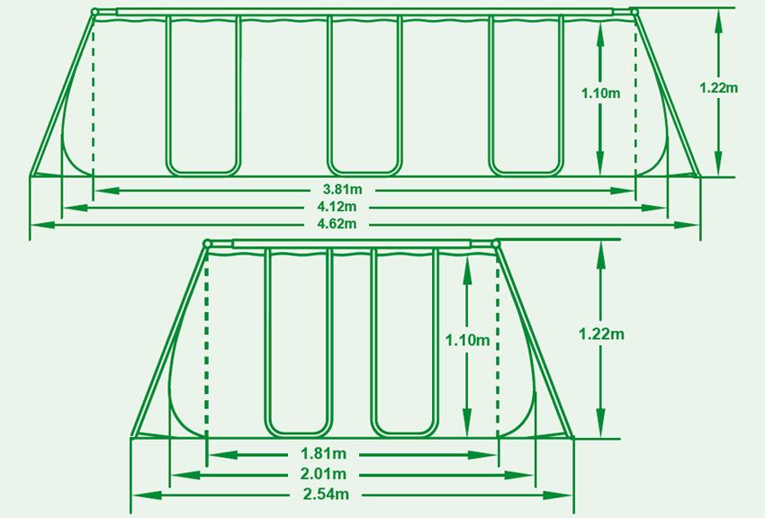 Piscine Esterne Misure.Piscina Fuori Terra Bestway Power Steel Frame 4 12 X 2 01 X H 1 22 M