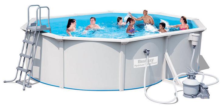 Piscina fuori terra bestway hydrium 5 00 x 3 60 x h 1 20 m - Filtro sabbia piscina bestway ...