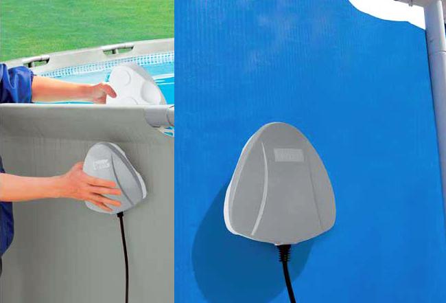Lampada led magnetica intex per piscine fuori terra for Faretti per piscine fuori terra