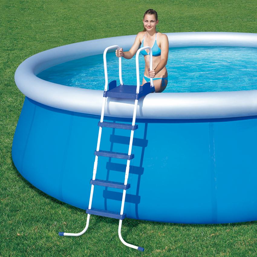 Scaletta piscina fuoriterra bestway cm 4 gradini piattaforma - Scaletta per piscina fuori terra ...