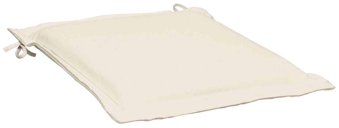 Cuscino per seduta 38x38 cm con volant ECRU