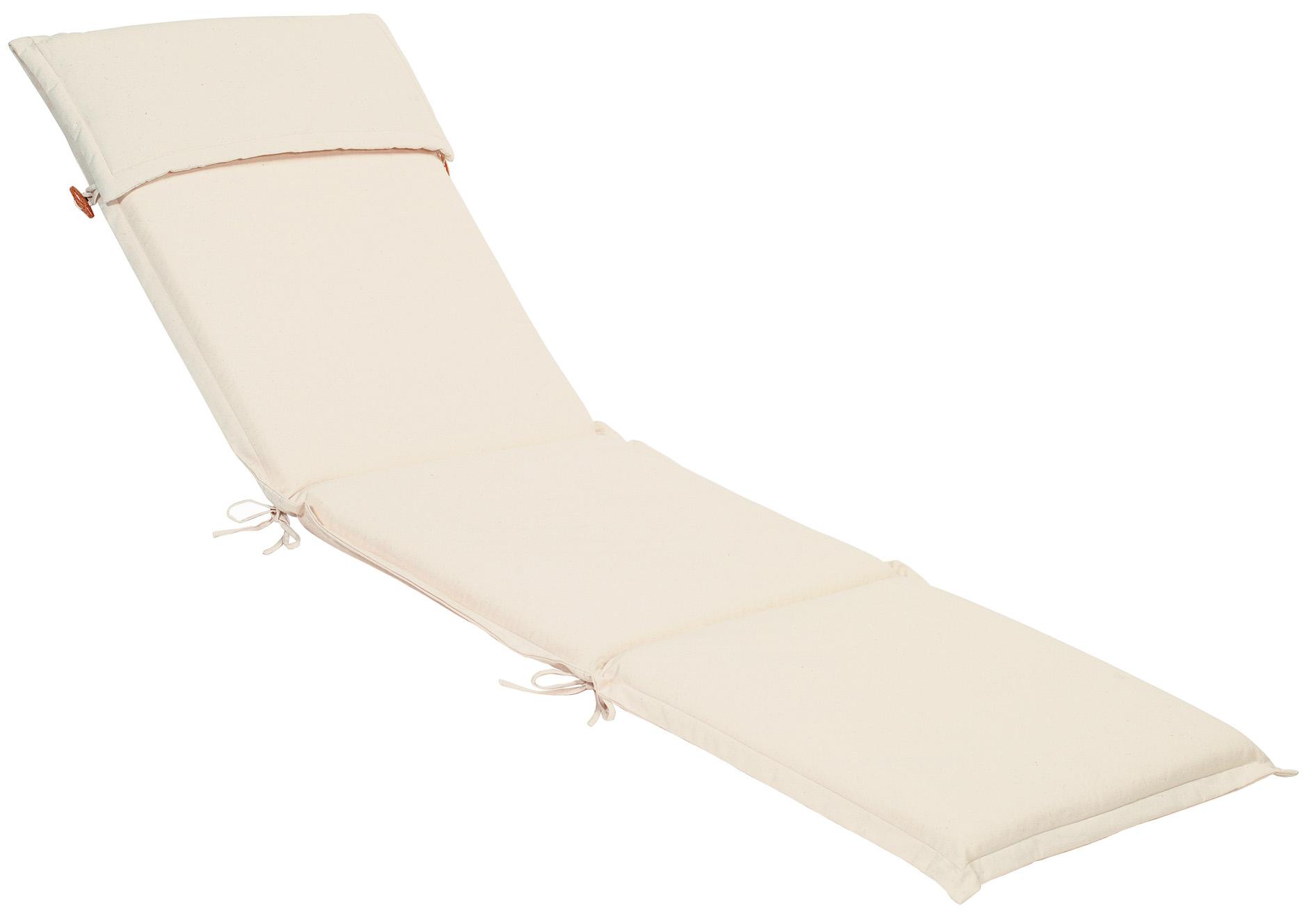 Cuscino per lettino prendisole 196x58 cm con volant ECRU