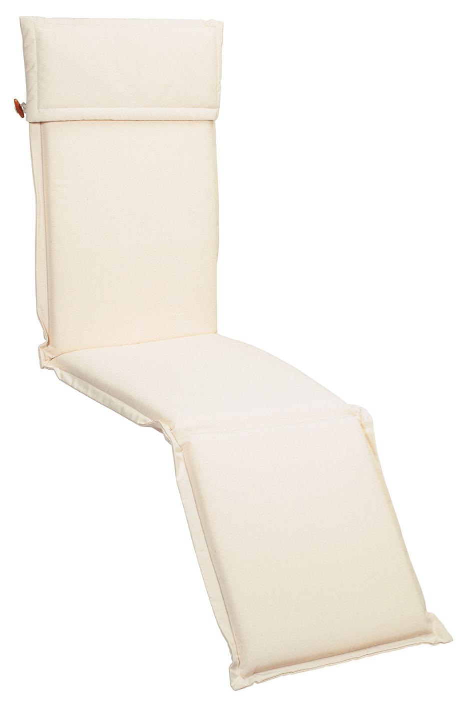 Cuscino per deckchair 184x46 cm con volant ECRU
