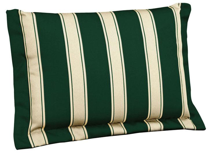 Cuscino per schienale 38x24 cm con volant RIGHE E RIGHE