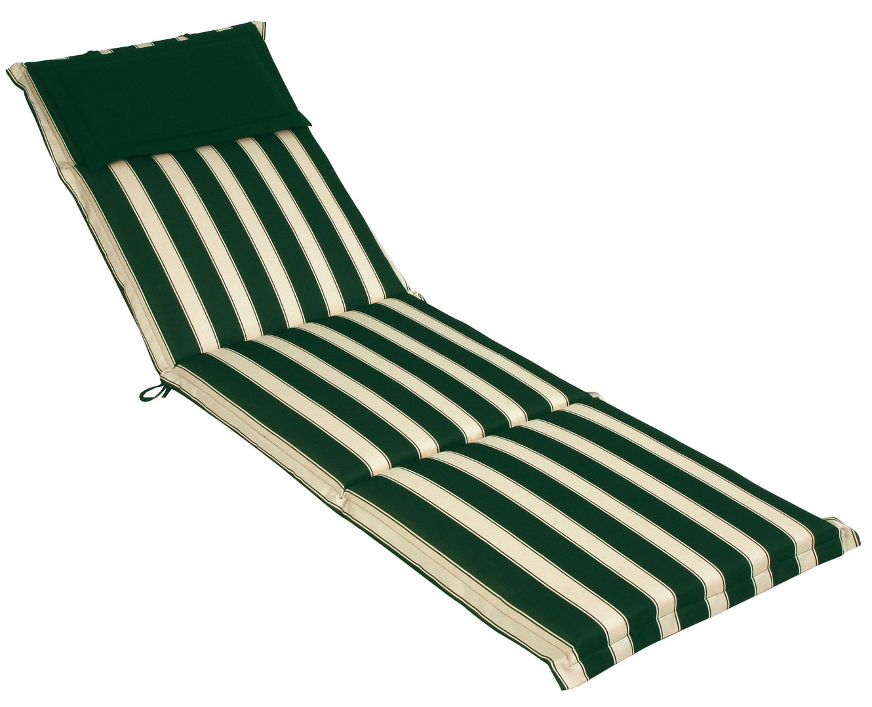 Cuscino per lettino prendisole 196x58 cm con volant RIGHE E RIGHE