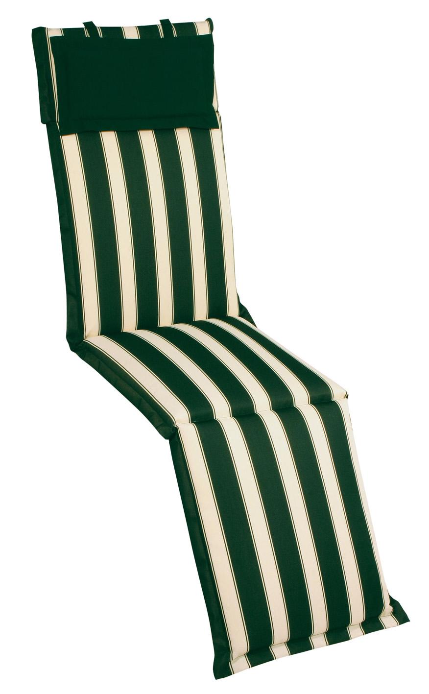 Cuscino per deckchair 184x46 cm con volant RIGHE E RIGHE
