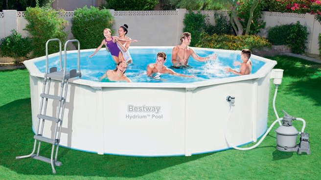 Piscina fuori terra bestway hydrium 4 60 x h 1 20 m - Montaggio piscina bestway ...