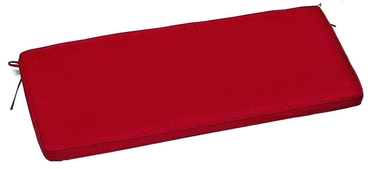 Cuscino per panca con doppia cucitura ROSSO