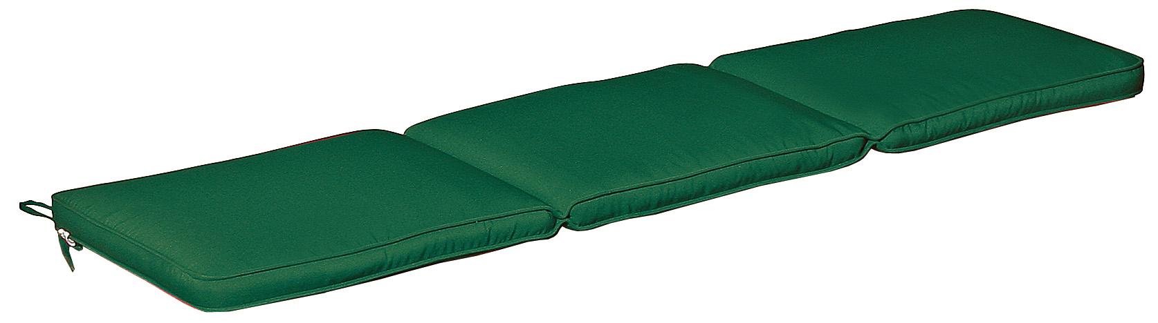 Cuscino per panca con doppia cucitura VERDE