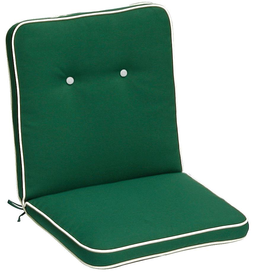 Cuscino per poltrona bassa 92x46 cm con bordino VERDE