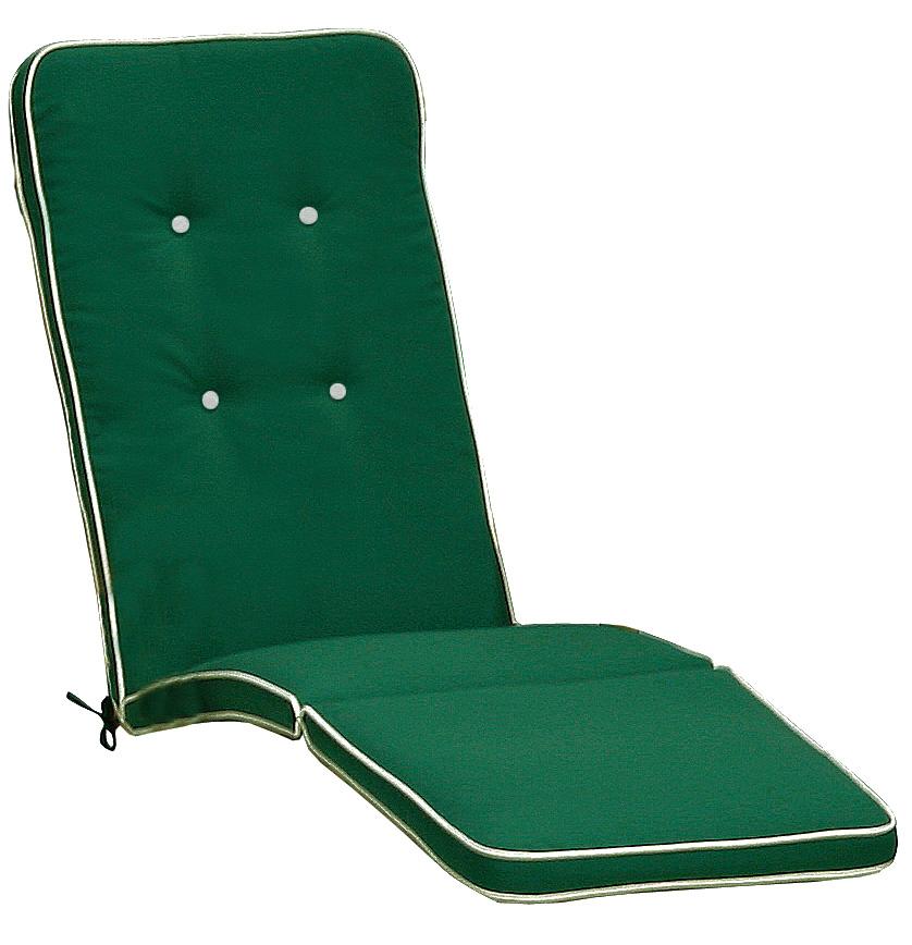 Cuscino da esterno per deckchair con bordino decorativo