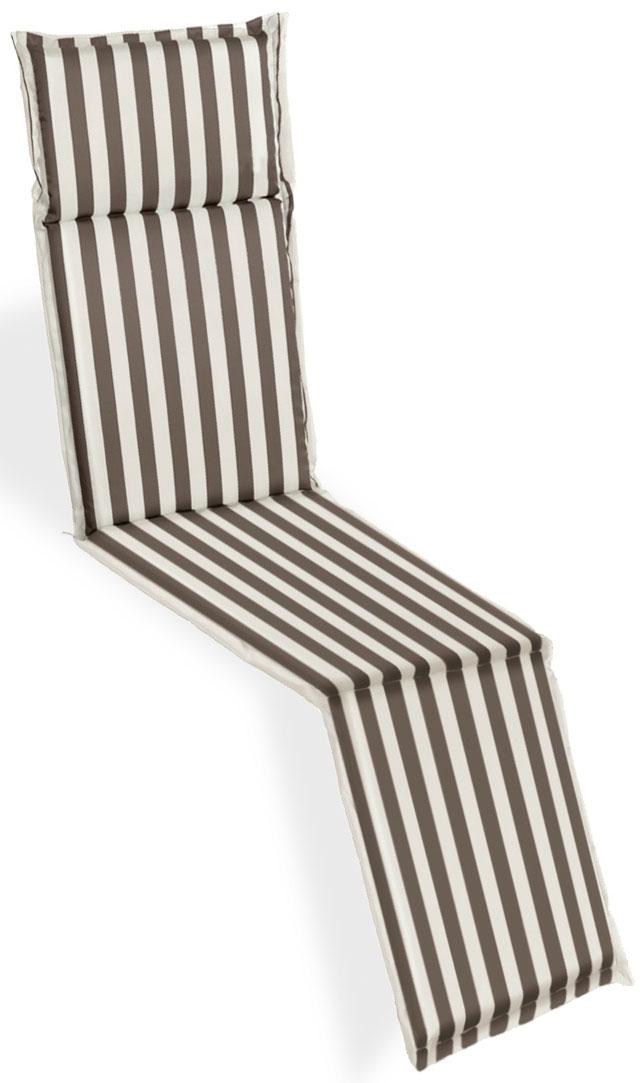 Cuscino per deckchair 184x46 cm con volant DUNE