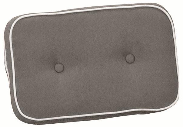 Cuscini per schienale 40x24 cm con doppia cucitura TORTORA