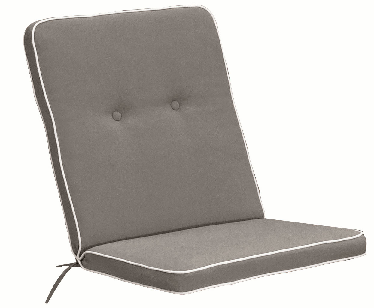 Cuscino per poltrona bassa 92x46 cm con bordino TORTORA
