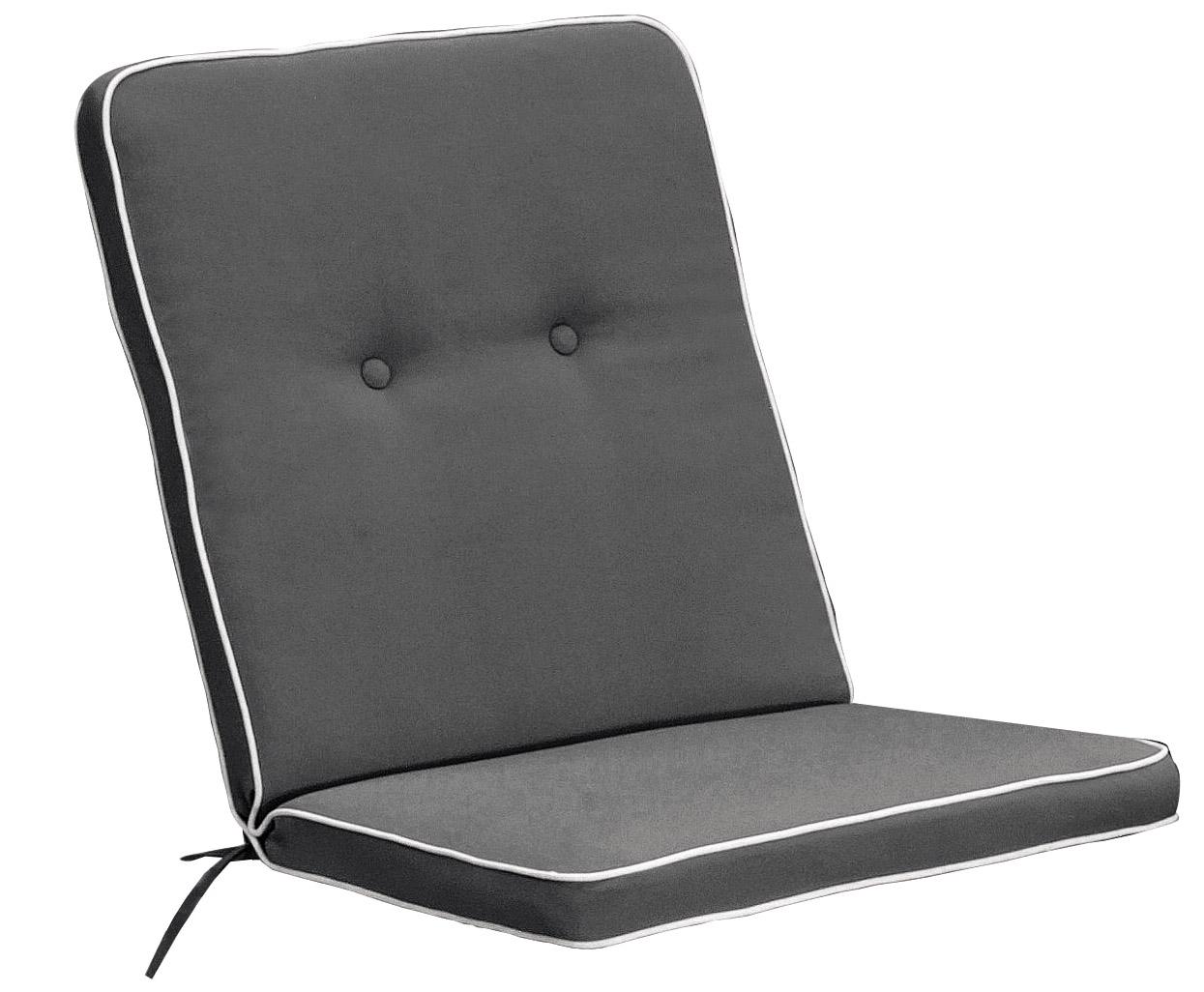 Cuscino per poltrona bassa 92x46 cm con bordino GRIGIO