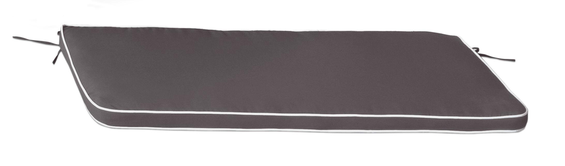 Cuscino per panca con doppia cucitura GRIGIO