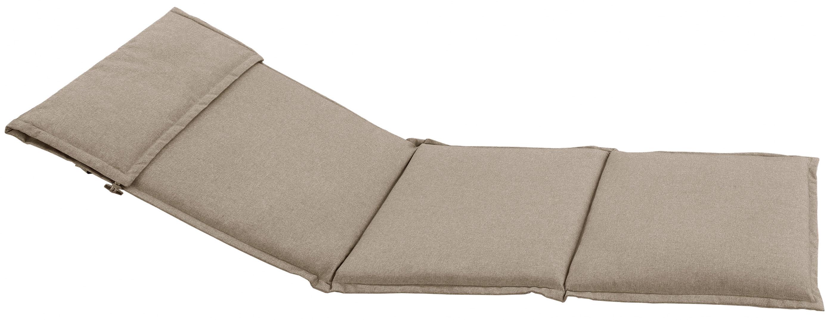 Cuscino per lettino prendisole 196x58 cm con volant SABBIA