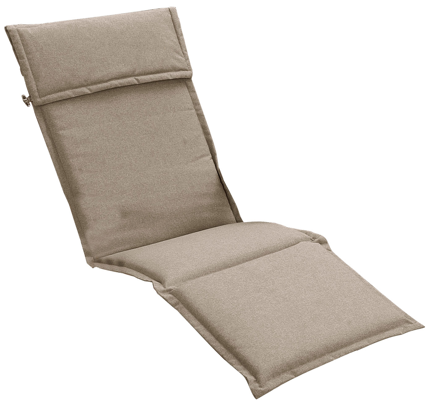 Cuscino per deckchair 184x46 cm con volant SABBIA
