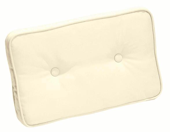 Cuscini per schienale 40x24 cm con doppia cucitura