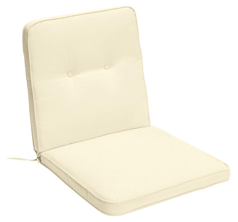 Cuscino per poltrona bassa 92x46 cm con bordino ECRU