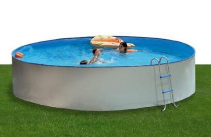 piscina in acciaio rotonda fuori terra