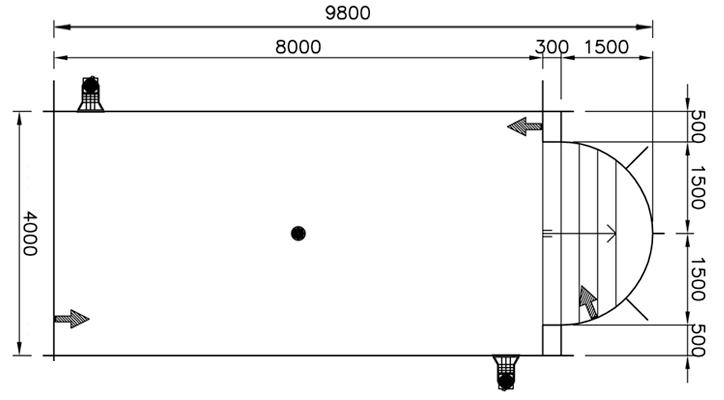 Copertura a tapparelle MANU di sicurezza per piscine rettangolari con scala romana