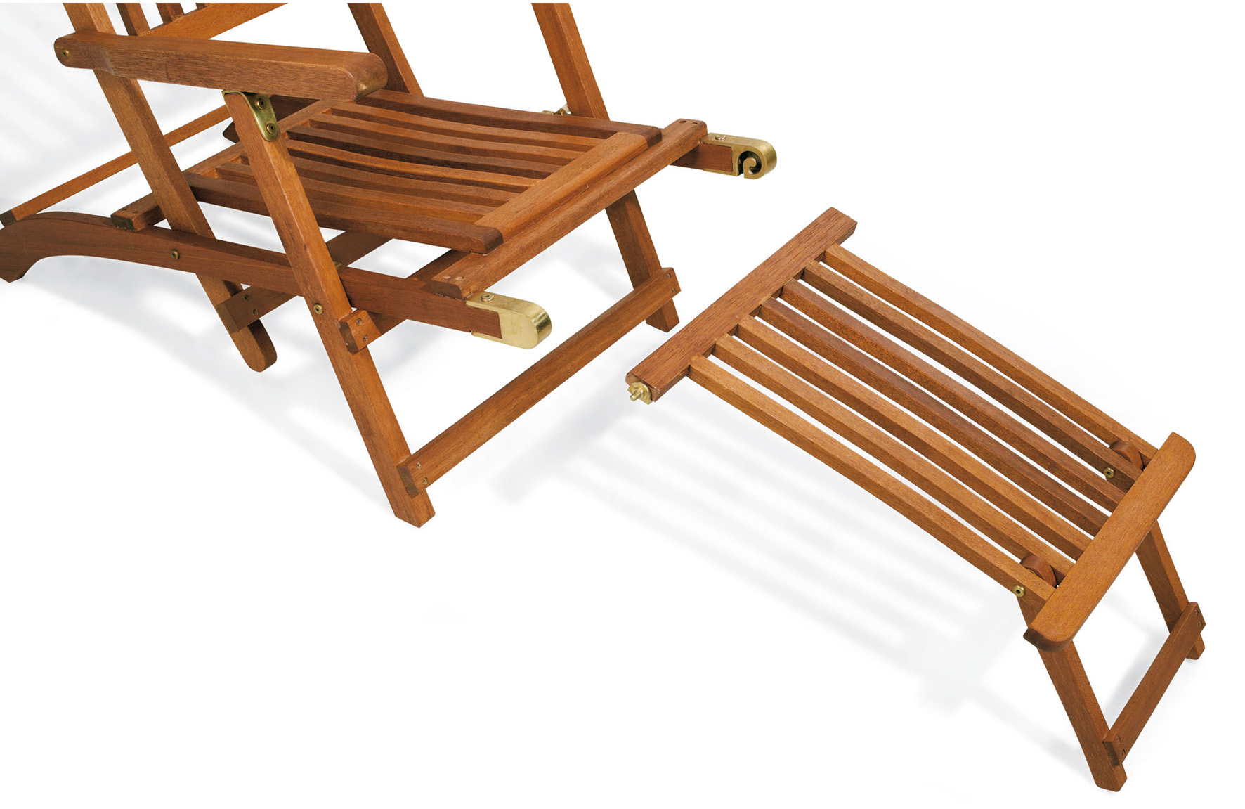 Sdraio da giardino in legno ERIKA con poggiapiedi