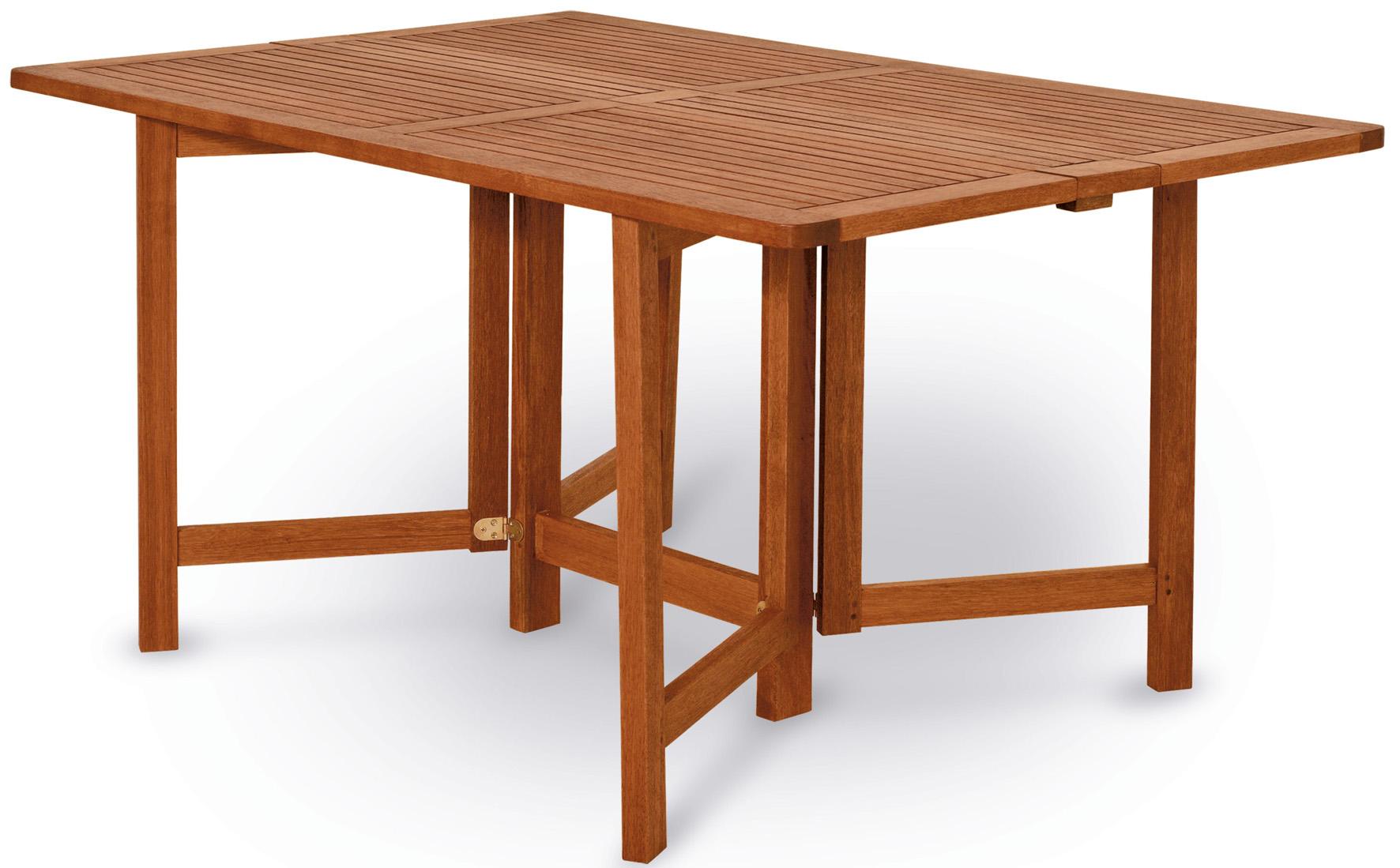 Tavolo richiudibile ed allungabile in legno keruing PAPAVERO