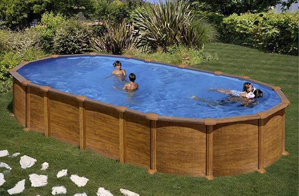 Piscina gre amazonia 730 x 375 cm h 132 ovale fuori - Tappeto per piscina fuori terra ...