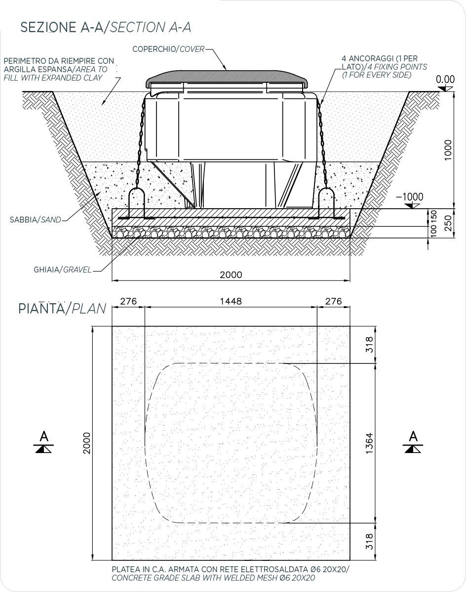DImensioni locale tecnico per piscine EASY 2
