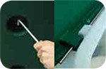 Asta di sicurezza INOX per blocco coperchio pozzetto