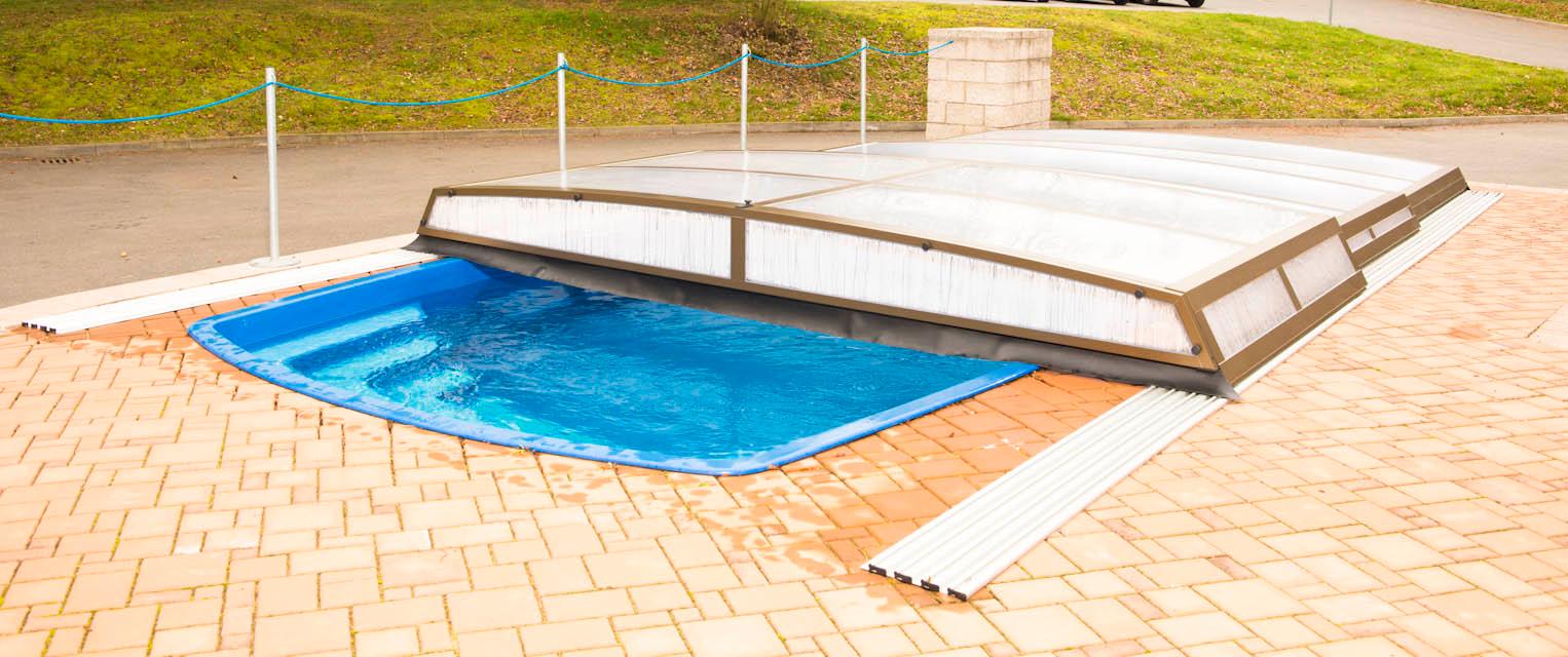 Copertura telescopica per piscina SEATTLE - flat  BSVillage.com