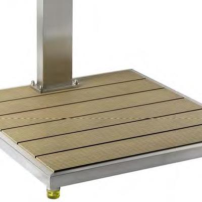 Doccia per piscina STEEL DESIGN con miscelatore e lavapiedi