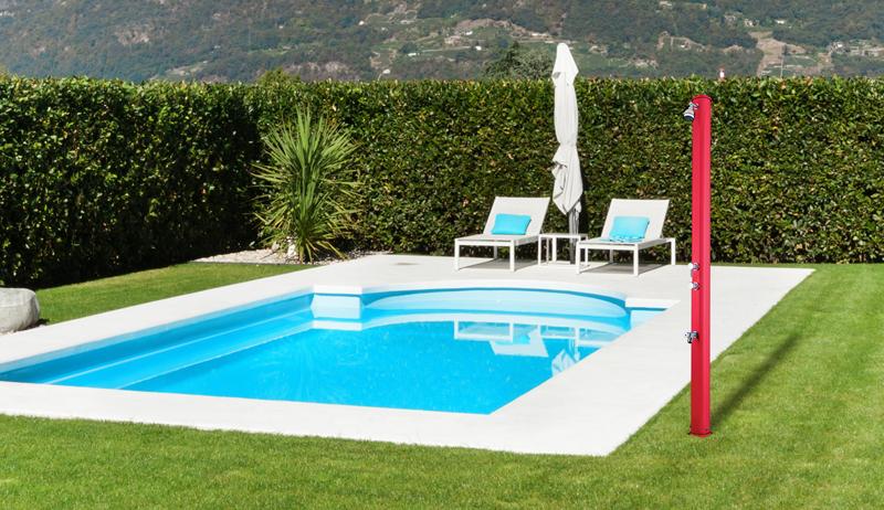 Doccia solare per piscina big jolly temporizzatore e for Temporizzatore da giardino